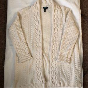 polo long knit cardigan oversized